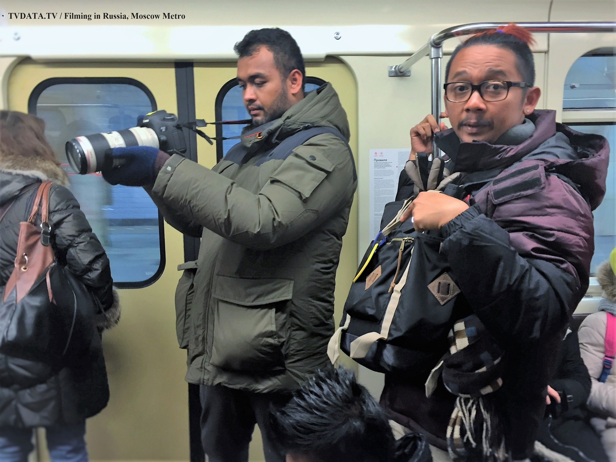 filming in Moscow, Metro