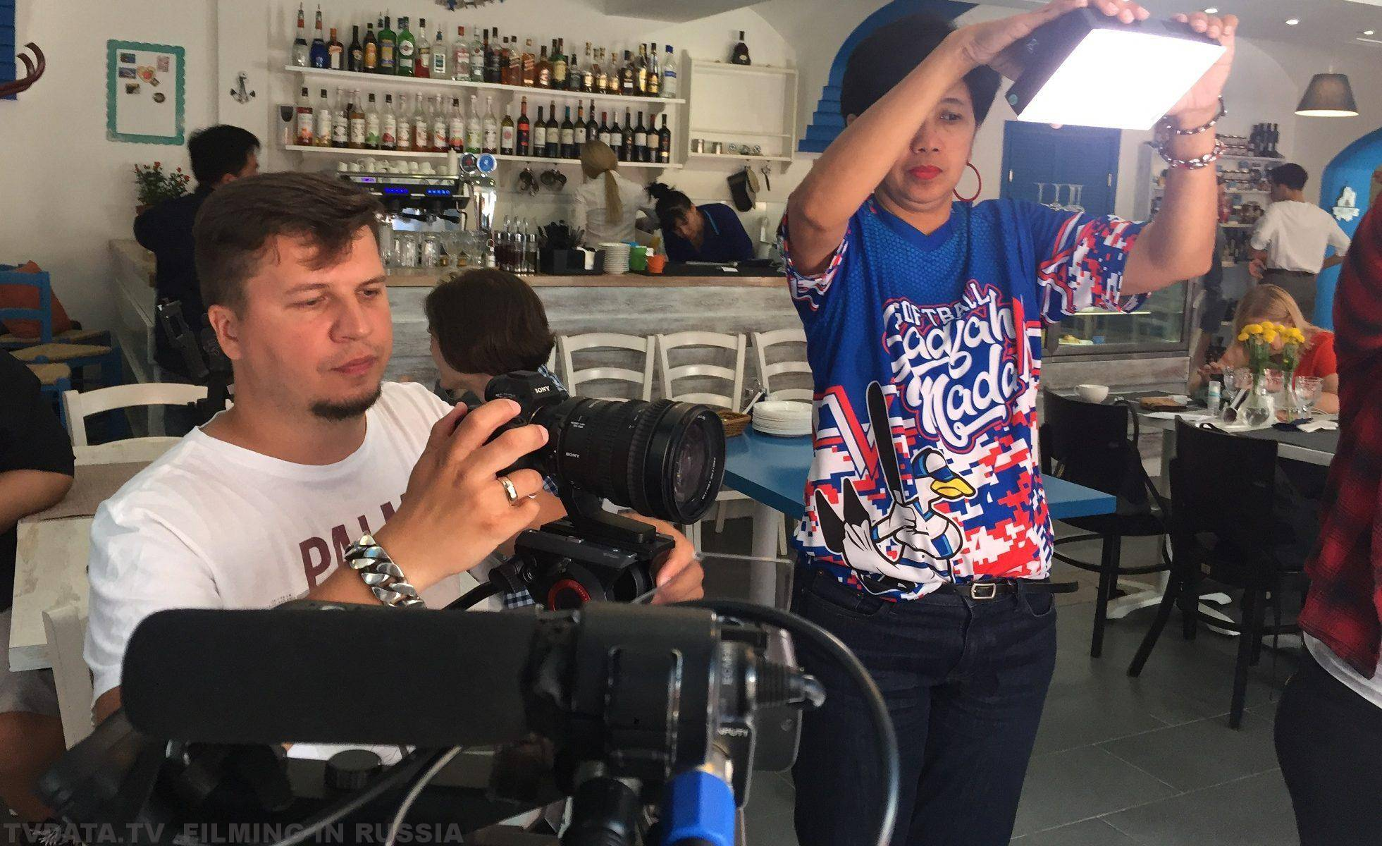 FILMING LOCATION SERVICES IN MOSCOW FOR AN INDONESIAN TORABIKA CAPPUCCINO PROJECT SHOT IN JUNE 2018
