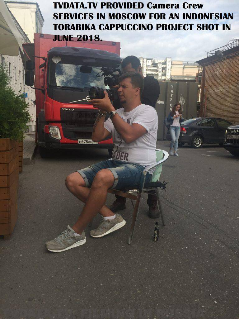 TVDATA.TV PROVIDED camera crew SERVICES IN MOSCOW FOR AN INDONESIAN TORABIKA CAPPUCCINO PROJECT SHOT IN JUNE 2018.