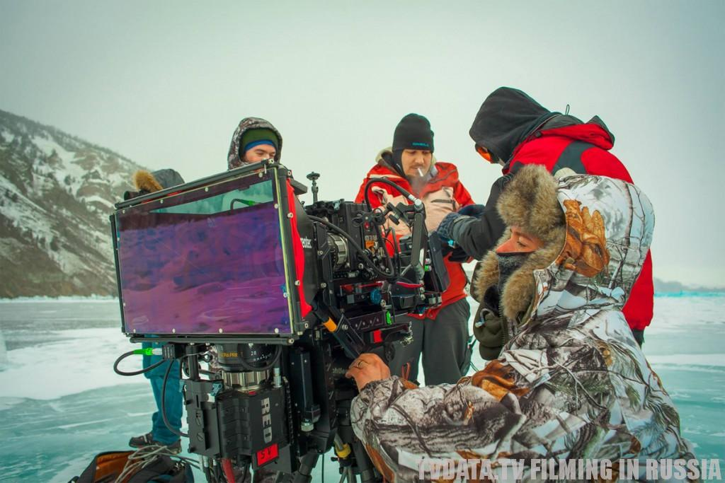 intense filming conditions under extreme temperatures in Russia. Documentary series filmed in extreme cold close to Baikal lake area.