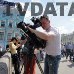 Filming by the Neva River in St. Petersburg, Russia