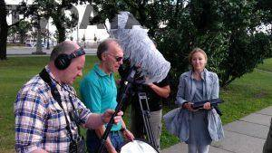 multilingual Television Producer on location in Russia