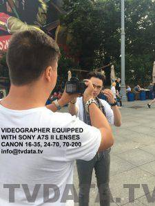 VIDEOGRAPHER EQUIPPED WITH SONY A7S II LENSES CANON 16-35, 24-70, 70-200