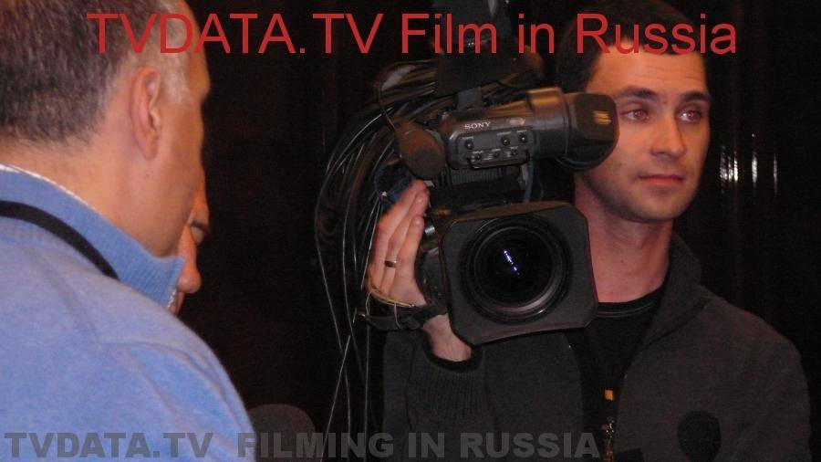 Moscow English-speaking cameraman Boris Filchikoff. HD Video Camera Hire in Moscow, Russia. info@tvdata.tv