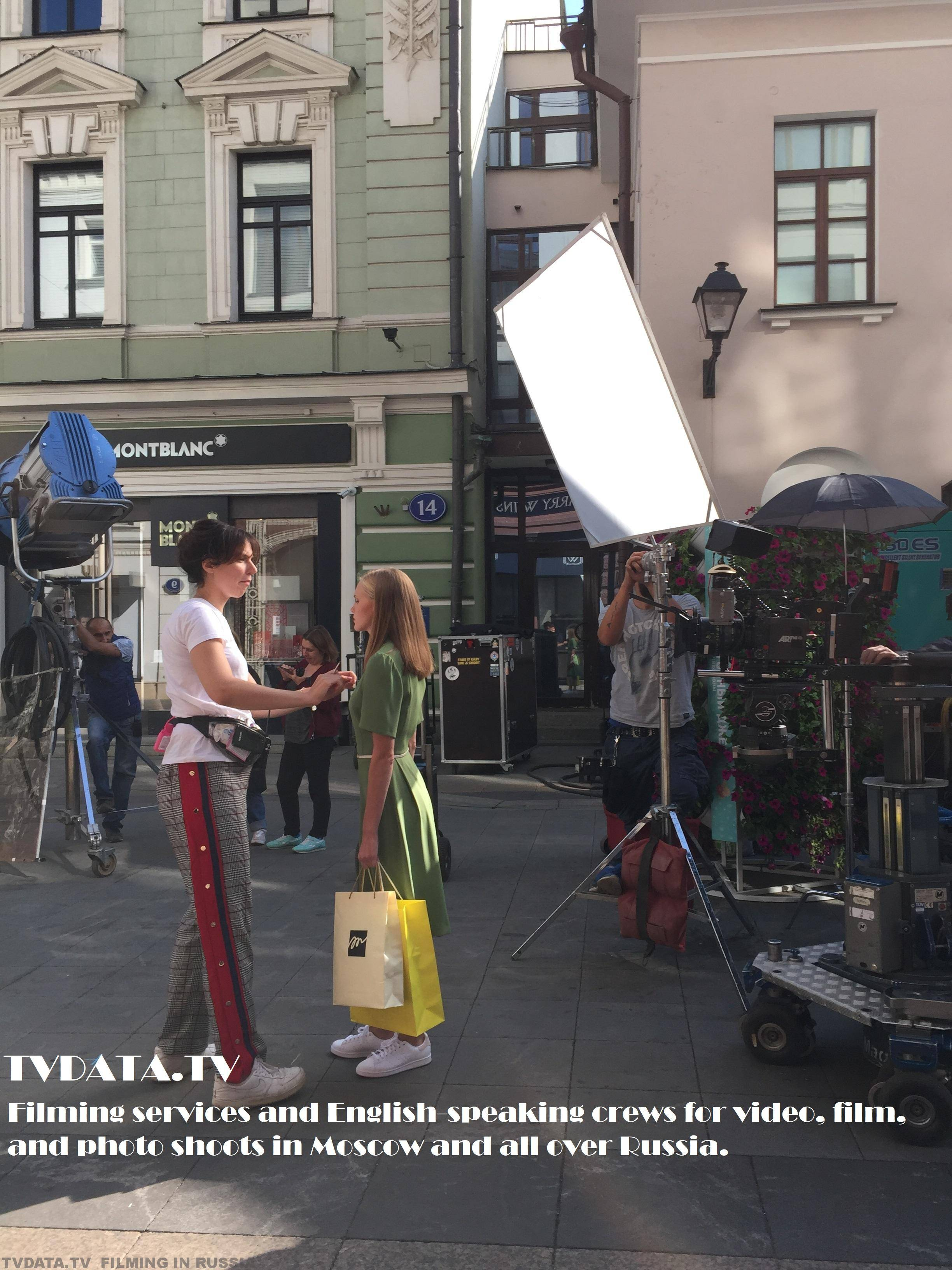 Filming services and English-speaking crews for video, film, and photo shoots in Moscow and all over Russia