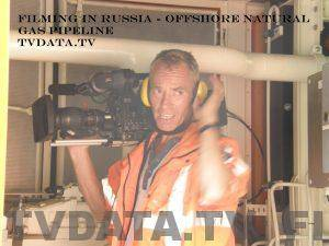 filming in Russia - offshore natural gas pipeline
