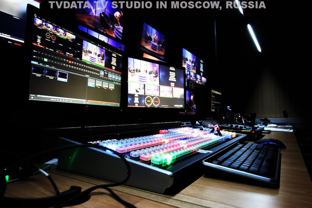 TVDATA HD NEWS VIRTUAL STUDIO GREEN SCREEN BACKGROUND IN MOSCOW