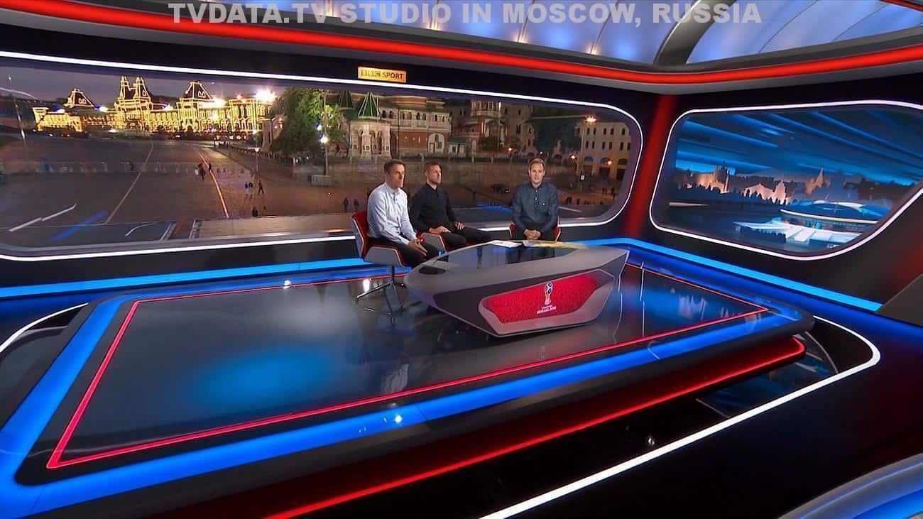 TVDATA.TV MULTI-CAMERA LIVE BROADCAST TV STUDIO IN MOSCOW, RUSSIA
