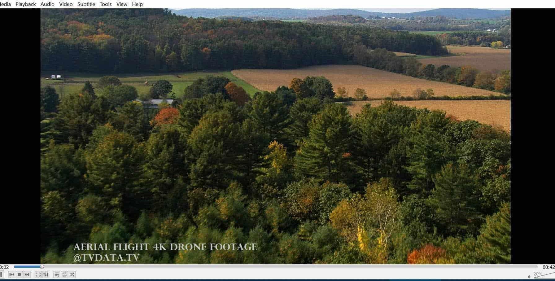 Aerial flight 4K Drone Footage
