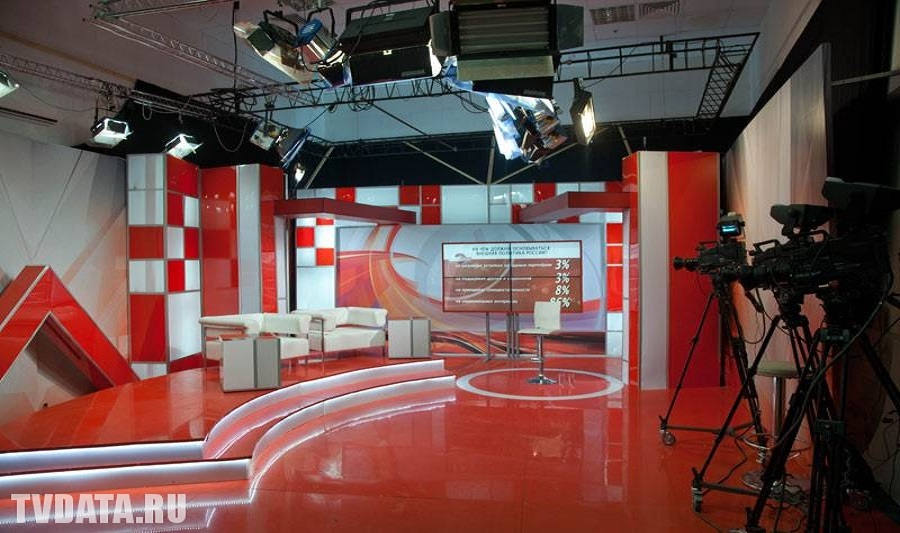 TVDATA.TV Multi-Camera Live Broadcast Studio in Moscow