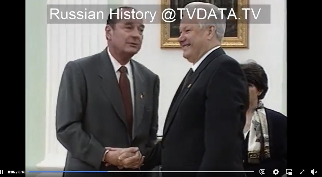BORIS YELTSIN RUSSIAN PRESIDENT VIDEO and French President Jacque Chirac